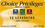 Choice Hotels Privileges Card